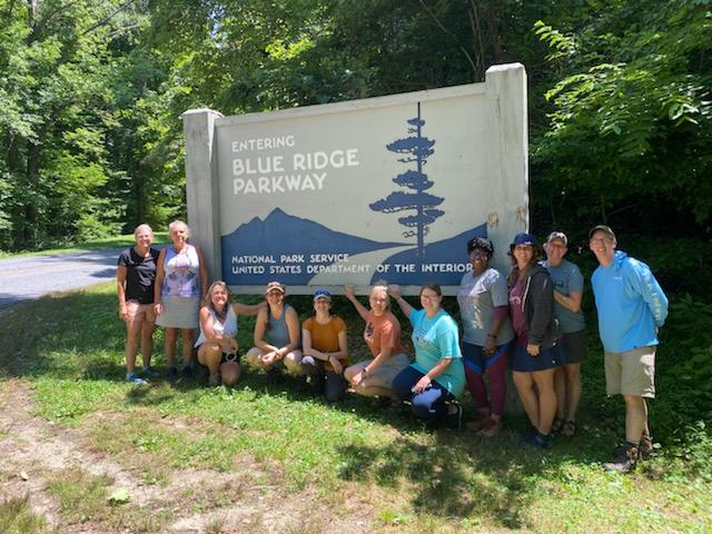 Group in front of BRP sign