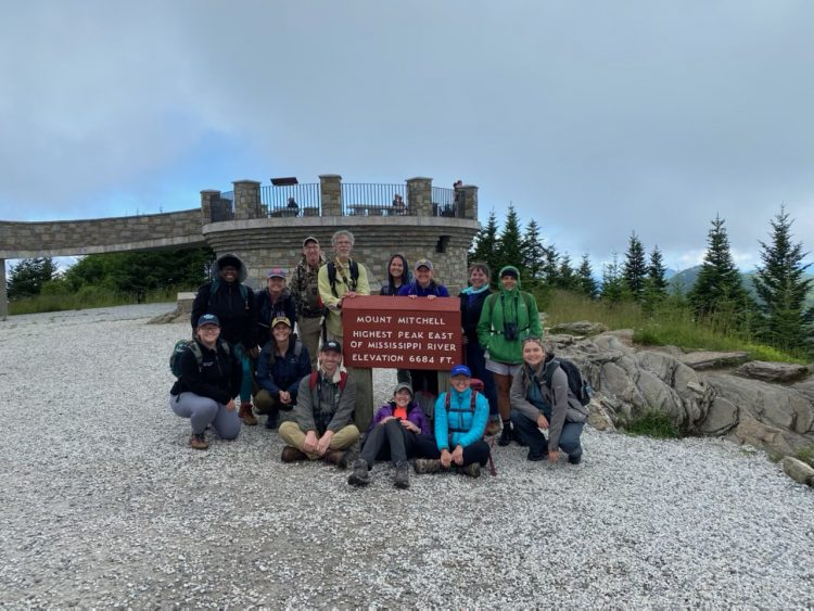 The group at Mount Mitchell